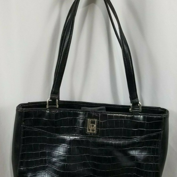 LUCY PEREDA Handbags - Lucy Pereda Black Faux Leather Bag Purse Snake